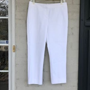 """Nordstrom Collection 23"""" inseam white pants"""
